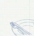 Cutlery Drawing vector image vector image