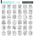 office stationery outline concept symbols perfect vector image