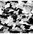 Camouflage seamless pattern in black white and vector image