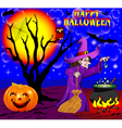 background Halloween with the boiler vector image vector image