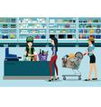 Supermarkets vector image vector image