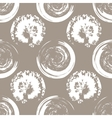 White blots on white coffee background vector image