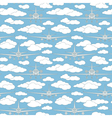 seamless pattern with passenger airplanes 05 vector image vector image