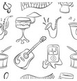 doodle musical instrument hand draw vector image