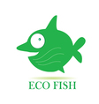 eco fish vector image