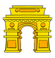 gate new delhi india icon cartoon vector image