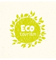 Hand drawing eco tourism logo templates vector image