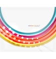 Multicolored lines on white motion concept vector image