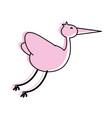stork bird icon image vector image