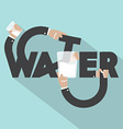 Water Typography Design vector image