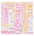 Your Own Com text background wordcloud concept vector image