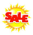 Sun Poster Sale vector image vector image
