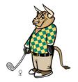 bull golfer vector image vector image