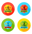 Warranty Flat Circle Icons Set 1 with Shadow vector image vector image