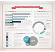 infographics retro cols blue red vector image vector image