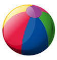 Beach ball on white background vector image