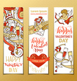 Set of vertical love banners vector image
