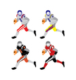american football players vector image