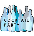 cocktail party blue poster vector image