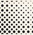 diagonal halftone dots seamless pattern circles vector image