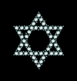 Diamond Star Of David vector image