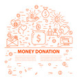 donation banner template vector image
