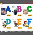 educational cartoon alphabet letters vector image