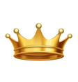 king crown gold vector image