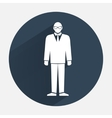 Man icon Office worker symbol Standing men in vector image