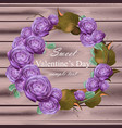 peony flowers wreath ultra violet floral vector image