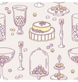 Seamless pattern with doodle candy bar objects vector image