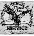 vintage americana eagle graphic vector image