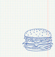 Hamburger Sketch vector image