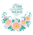 Chrysanthemum garland composition vector image vector image