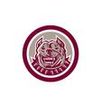 Pitbull Dog Mongrel Head Circle vector image vector image