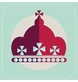 crown of England icon flat vector image