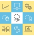 Data storage data analysis and transfer icons vector image