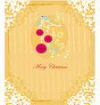 Christmas bird with decorative balls vector image vector image