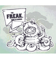 hand drawn freak vector image vector image
