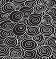 Waves hand-drawn pattern curled background vector image