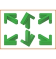 arrows isometric 3d vector image