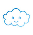 cartoon cute cloud baby shower image vector image