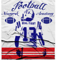 college football graphics for t-shirt graphics vector image