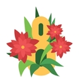 Eight march flower vector image