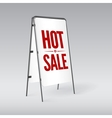Pavement sign with the text Hot sale vector image