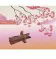 Sakura Tea ceremony Menu vector image