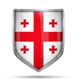 Shield with flag Georgia vector image