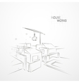 Sketch drawing construction vector image