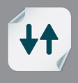 two arrow up sign vector image