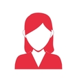 Woman head and torso icon Avatar female design vector image